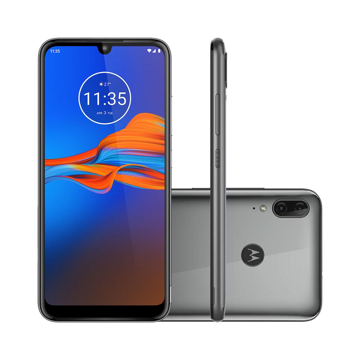"Smartphone Motorola Moto E6 Plus Cinza Metálico 64GB 6.1"" Android 9.0 Pie XT2025-1"