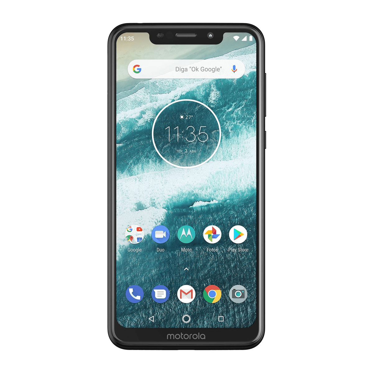 "Smartphone Motorola One Preto 64GB 5.9"" Android 9.0 Pie XT1941-3"