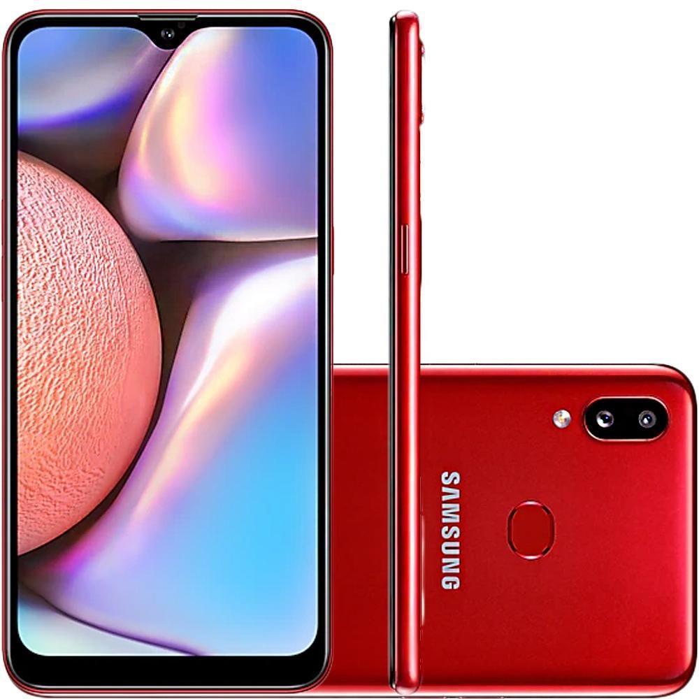 """Smartphone Samsung Galaxy A10s Vermelho 32GB 6.2"""" Android 9.0 Pie SM-A107M/DS"""